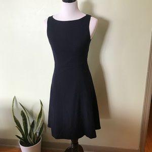 H&M Navy Dotted A-Line Dress
